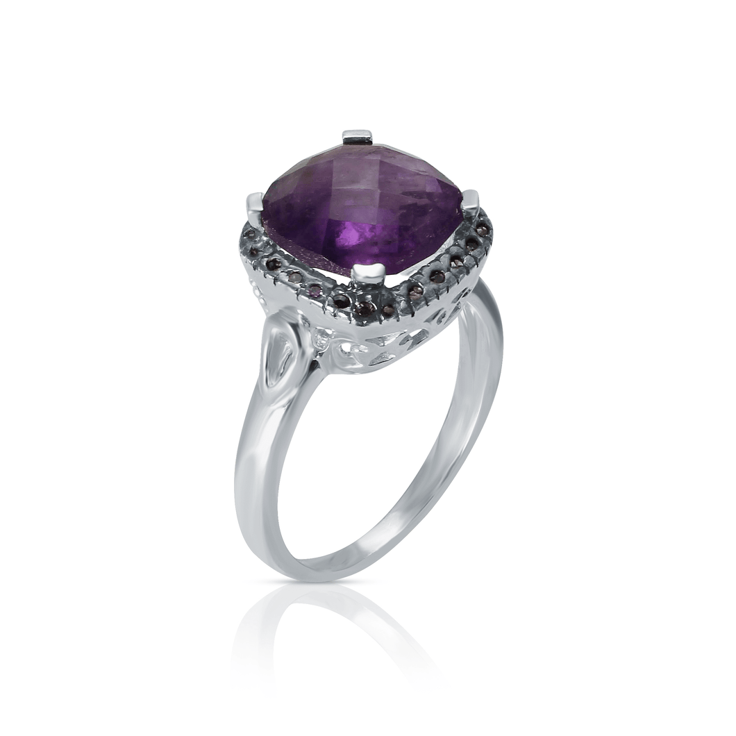 I Stand Out Two Tone Ring/ Amethyst-I am master of my life