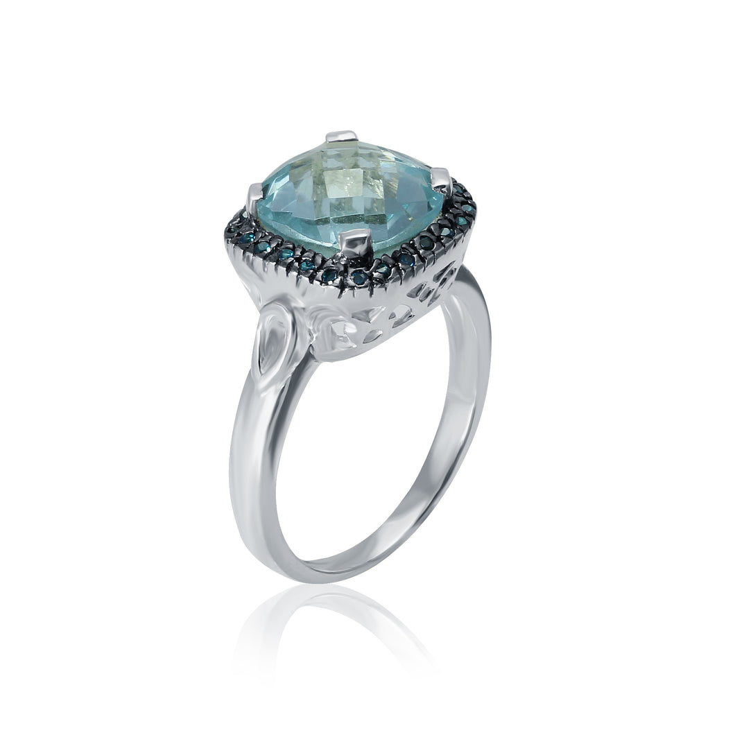 I Stand Out Two Tone Ring/ Blue Topaz-I am well spoken