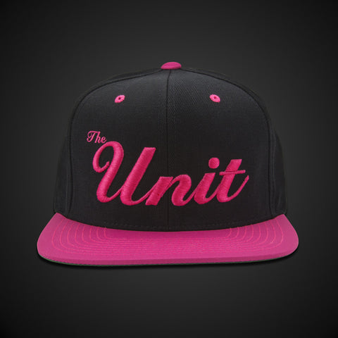 """The Unit"" (snapback) Hat in Black & Neon Pink"