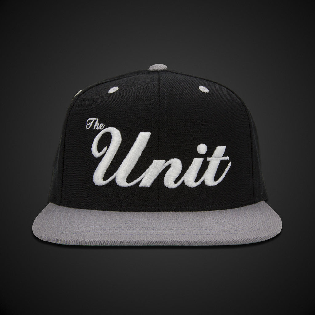 """The Unit"" (snapback) Hat in Black/Silver/White"