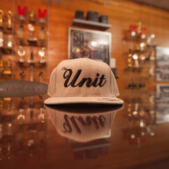 """The Unit"" (snapback) Hat in Heather Grey / Black"