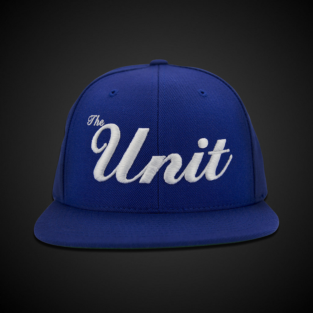 """The Unit"" (snapback) Hat in Royal Blue / White"