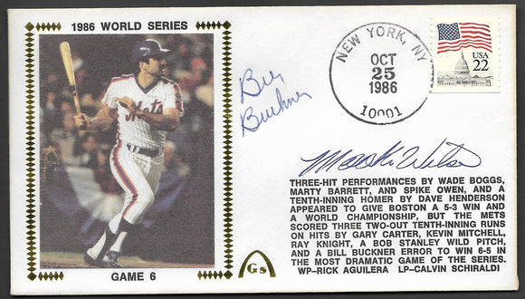Bill Buckner & Mookie Wilson Autographs on Game 6 of the 1986 World Series