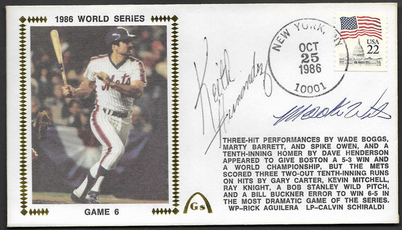 Keith Hernandez & Mookie Wilson Autographs on Game 6 of the 1986 World Series