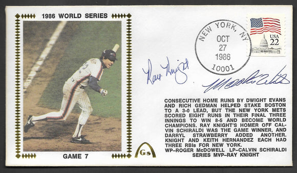 Ray Knight & Mookie Wilson Autographs on Game 7 of the 1986 World Series
