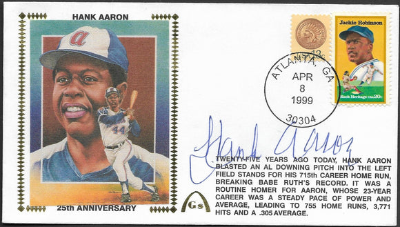 Hank Aaron 715 Home Runs 25th Anniversary
