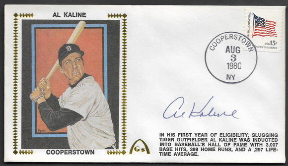 Al Kaline Hall Of Fame Induction Gateway Stamp Envelope HOF - Autographed