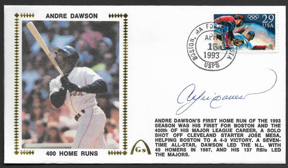 Andre Dawson 400 Home Runs Autographed Gateway Stamp Envelope