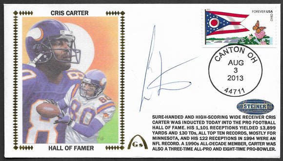 Cris Carter Hall Of Fame Gateway Stamp Envelope - Autographed & Authenticated HOF