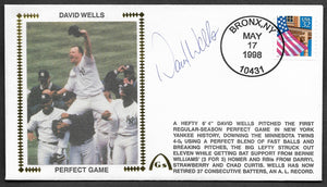 David Wells Autographed Perfect Game Gateway Stamp Envelope