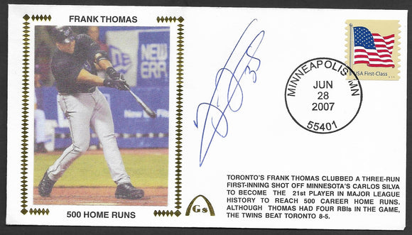 Frank Thomas 500th Home Run Gateway Stamp Envelope - Autographed