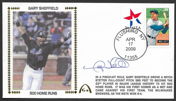 Gary Sheffield 500th Home Run Gateway Stamp Envelope - Autographed