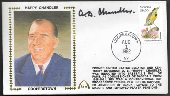 Happy Chandler Hall Of Fame Induction Gateway Stamp Envelope