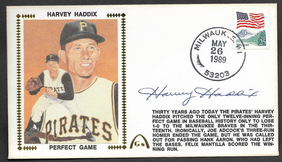 Harvey Haddix 12 Perfect Innings 30th Anniversary Gateway Stamp Envelope