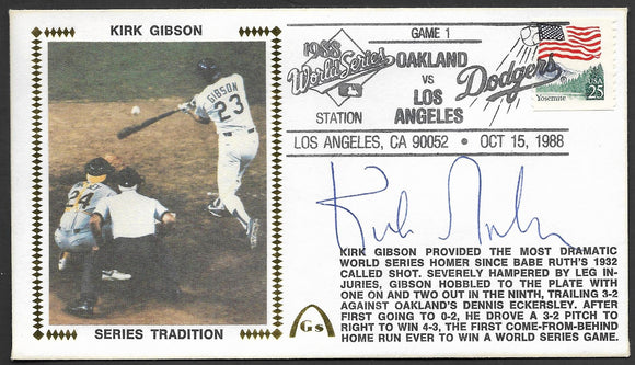 Kirk Gibson Iconic 1988 World Series Home Run Gateway Stamp Envelope - Autographed