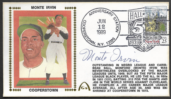 Monte Irvin - 50th Anniversary of Baseball's Hall Of Fame