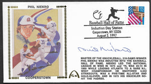 Phil Niekro Hall Of Fame Induction Gateway Stamp Envelope