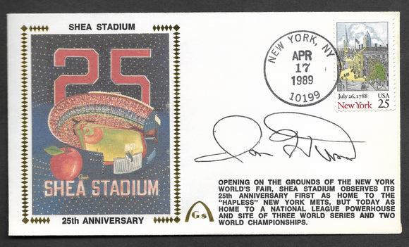 Ron Hunt Shea Stadium 25th Anniversary Autographed Gateway Stamp Envelope