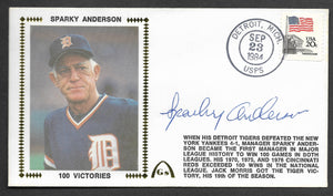 Sparky Anderson 100 Win Seasons Autographed Gateway Stamp Envelope