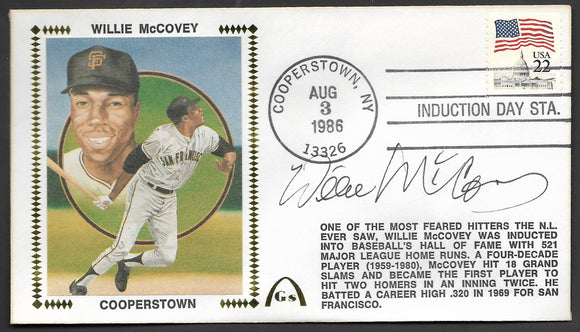 Willie McCovey Hall Of Fame - Autographed HOF