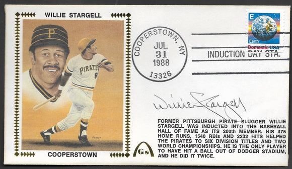 Willie Stargell Hall Of Fame - Autographed HOF