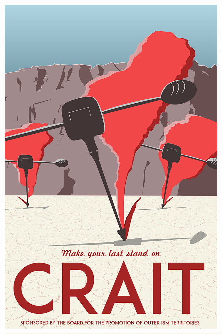 Vintage Crait Travel Poster [Star Wars: The Last Jedi]