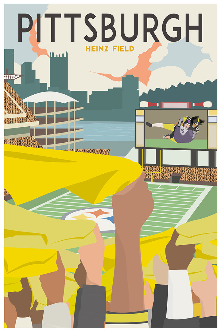 Heinz Field [Vintage Pittsburgh Travel Poster]