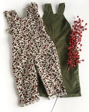 Load image into Gallery viewer, Festive Floral Cotton Corduroy Romper
