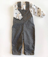 Load image into Gallery viewer, Grey Leopard Print Unisex Cotton Romper