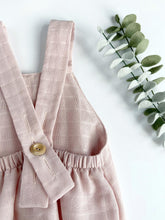 Load image into Gallery viewer, Blush Pink Muslin Cotton Bubble Romper
