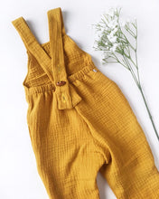 Load image into Gallery viewer, Mustard Double Gauze Cotton Romper