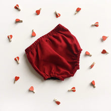 Load image into Gallery viewer, Red Cranberry Cotton Bloomers