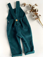 Load image into Gallery viewer, Petrol Blue Corduroy Unisex Cotton Romper