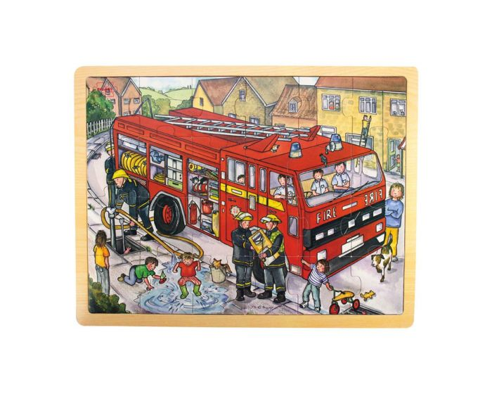 BIGJIGS_WOODEN _RED_FIRE_ENGINE_TRAY_PUZZLE