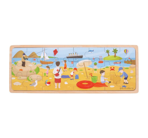 Big Jigs Children's Seaside Tray Puzzle Toy