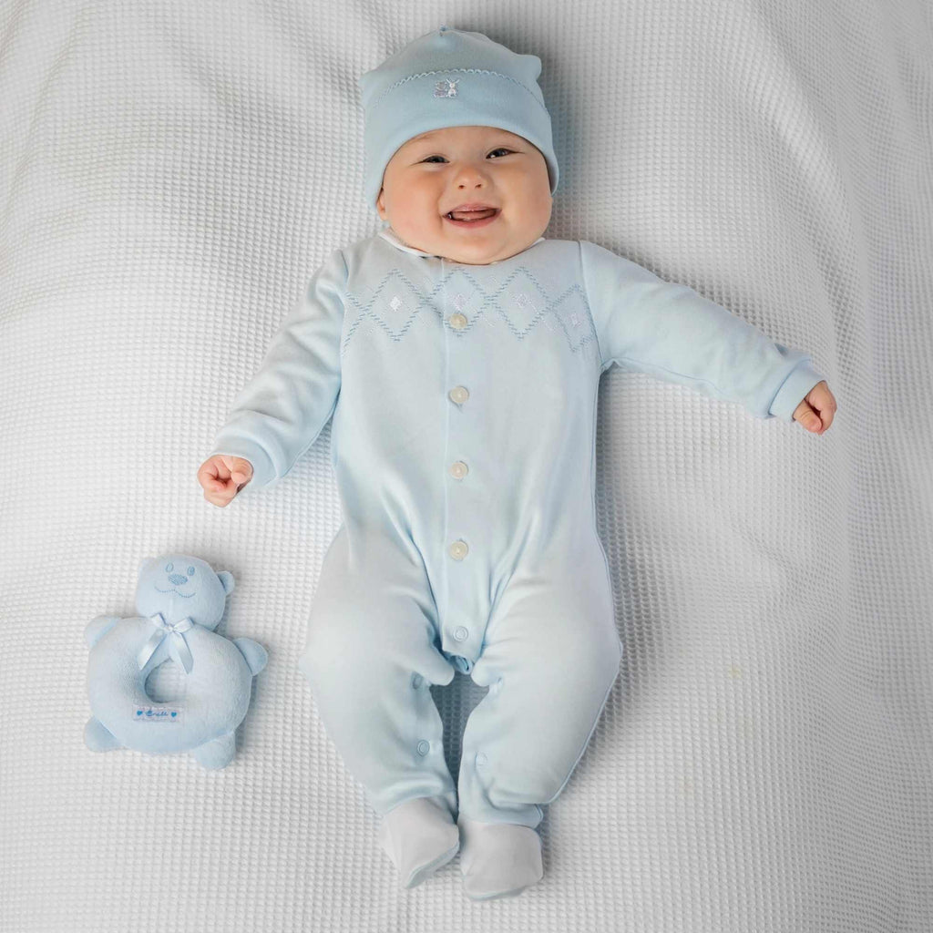 Emile-et-Rose-Blue-Walter-Babygrow-and-Hat-Gift-Set-For-Newborn-Baby-Boy