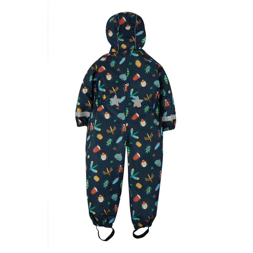 Frugi-Organic-Rain-or-Shine-Waterproof-Rain-Suit-For-Little-Boy-In-Bug-Print-From-Back