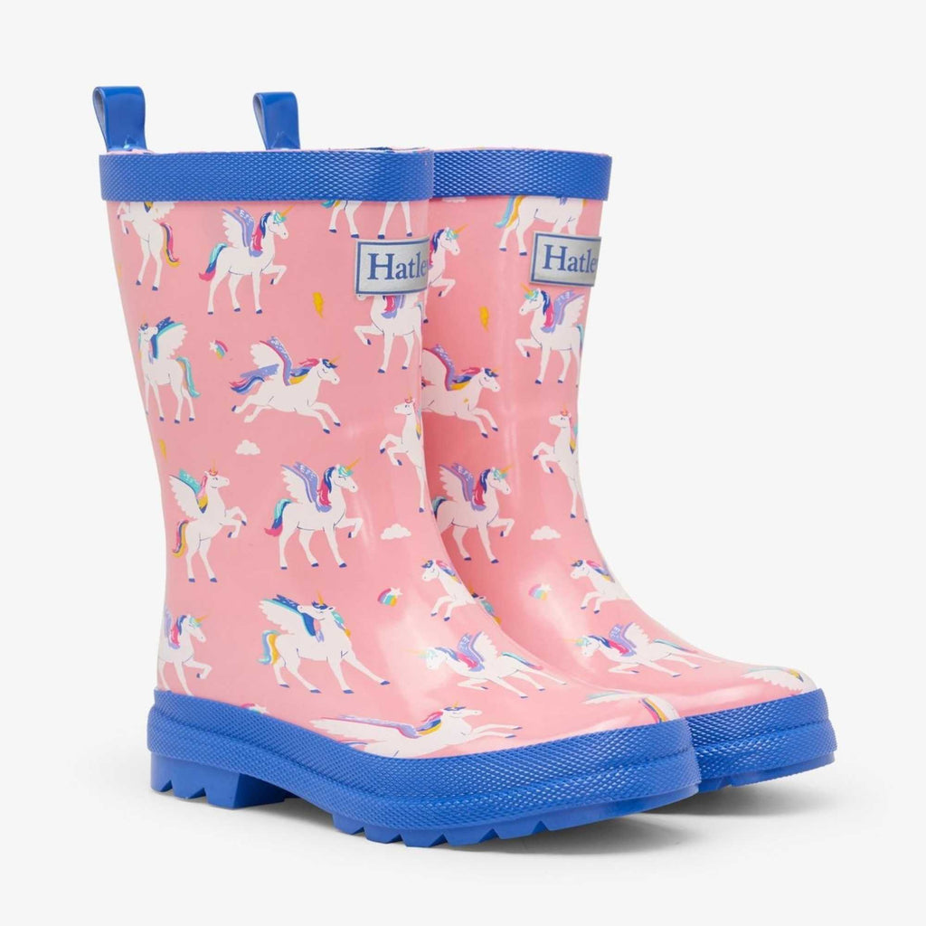 Hatley-Girls-Colour-Changing-Pink-Rain-Boots-Magical-Pegasus-Unicorn-Wellies-Chislers