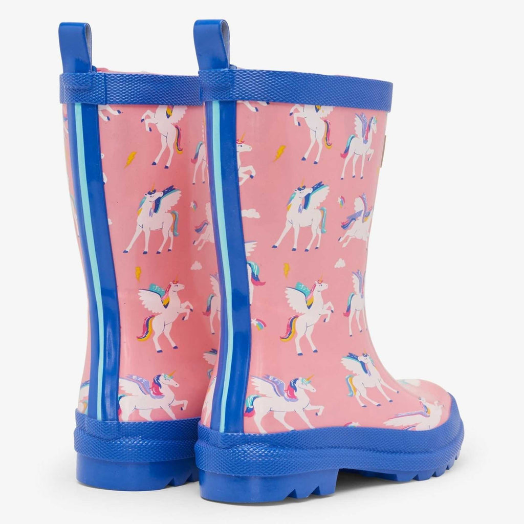 Hatley-Girls-Colour-Changing-Pink-Rain-Boots-Magical-Pegasus-Unicorn-Wellies-From-Back-Chislers