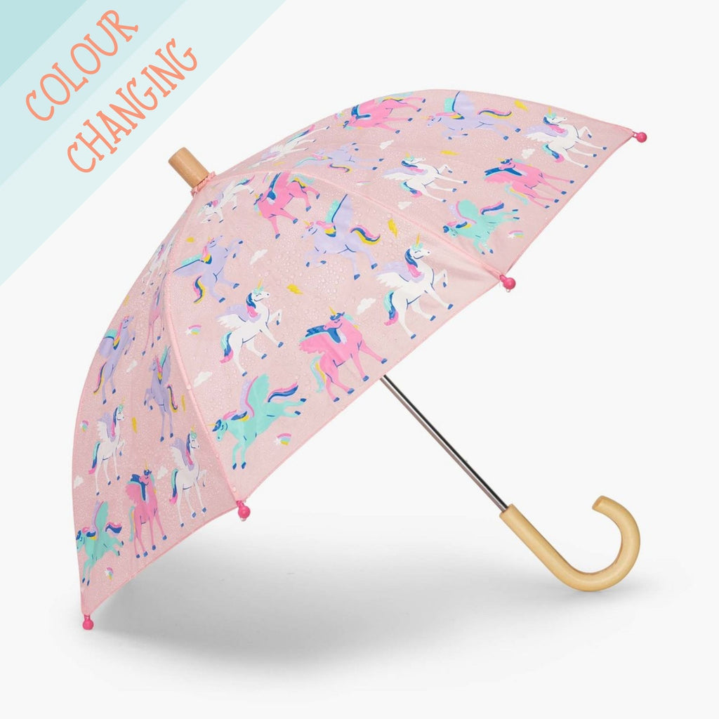 Hatley-Girls-Colour-Changing-Pink-Umbrella-Magical-Pegasus-Unicorn-Print-Chislers-Boutique