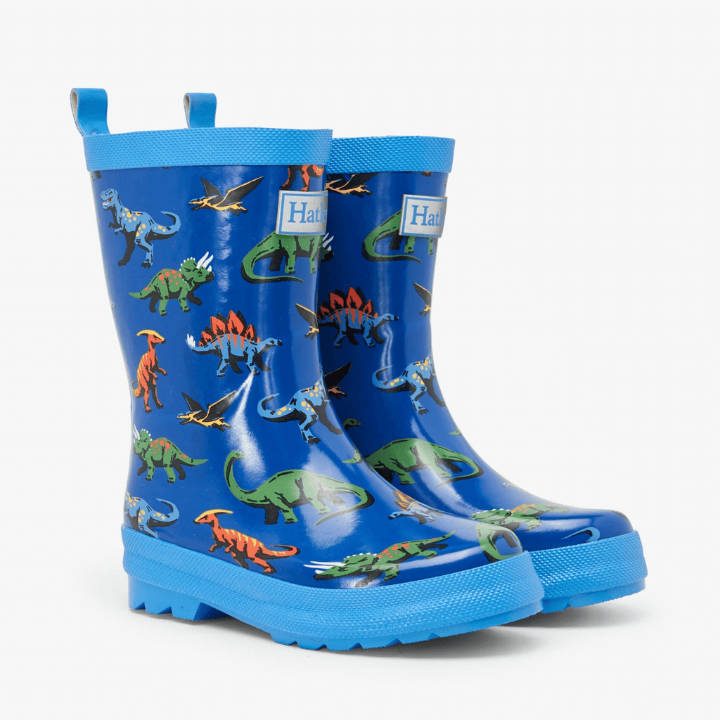 Hatley-SS21-Blue-Orange-Green-Boys-Friendly-Dinos-Dinosaur-Wellies-Chislers-Ireland