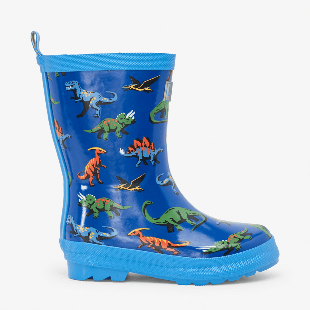 Hatley-SS21-Blue-Orange-Green-Boys-Friendly-Dinos-Dinosaur-Wellies-From-The-Side-Chislers-Ireland