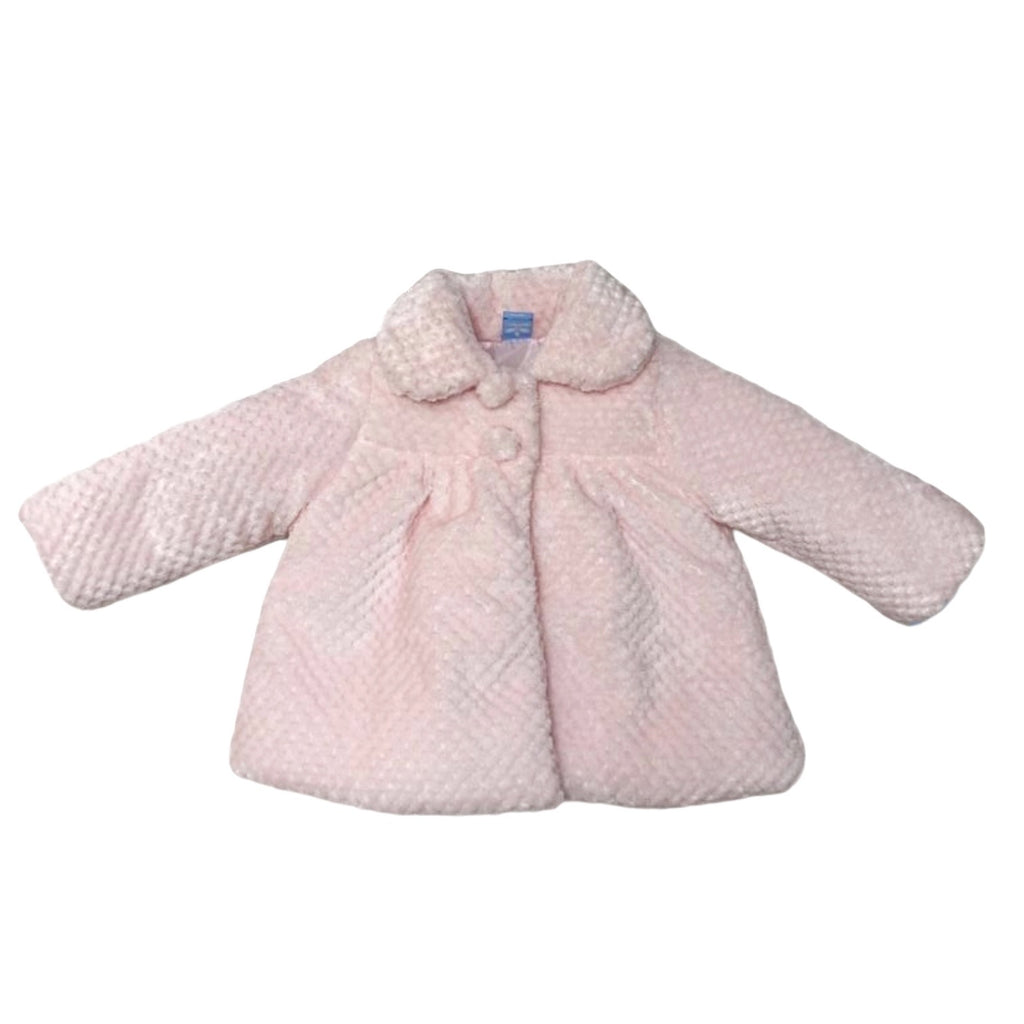 Pastel Pink Fluffy Girls Jacket Chislers Childrens Boutique