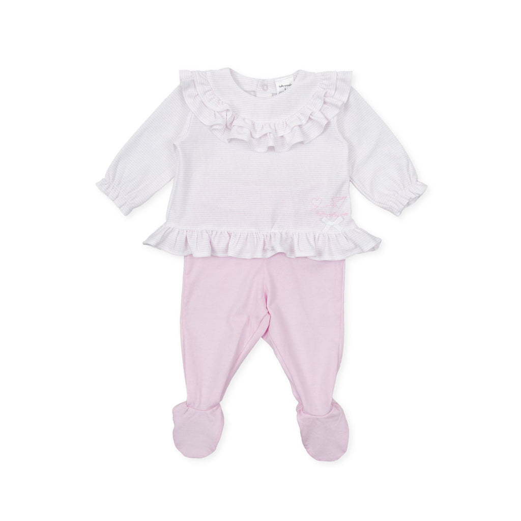 Tutto-Piccolo-Baby-Top-And-Bottom-Set-With-Feet-For-A-Newborn-Baby-Girl-Chislers-Ireland