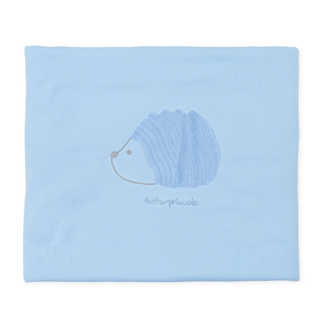 Tutto-Piccolo-Blue-Velvety-Hedgehog-Blanket-Chislers-Online-Ireland