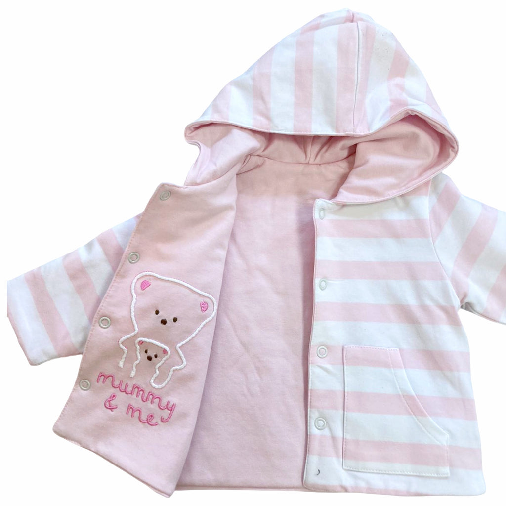 DO-Pink-Stripe-Newborn-Reversible-Hooded-Jacket-For-Newborn-Baby-Girl-Chislers-Online