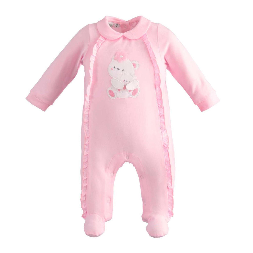 iDO Pink Teddy-One Piece Romper Babygrow Gift For Baby Girl