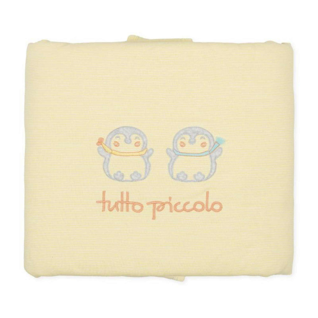 tutto piccolo yellow penguin unisex newborn baby blanket gift set