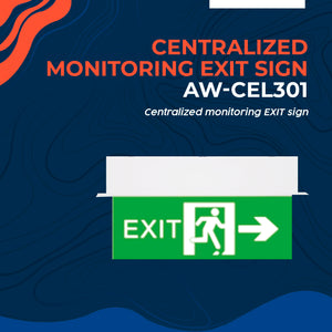 Centralized Monitoring EXIT Sign AW-CEL301