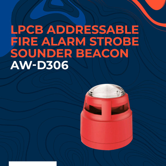 LPCB Addressable Fire Alarm Strobe Sounder Beacon for Fire Alarm System AW-D306